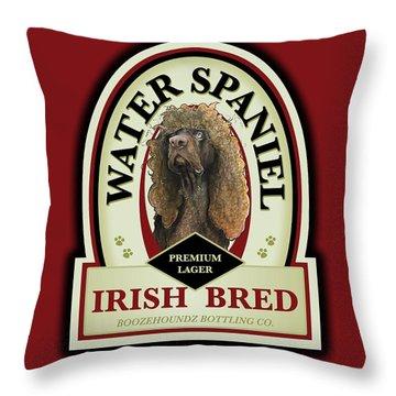 Water Spaniel Irish Bred Premium Lager Throw Pillow