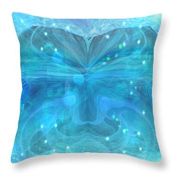 Water Spirit Throw Pillow
