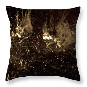 Water Splashing Throw Pillow