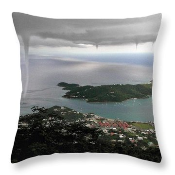 Water Spout Throw Pillow