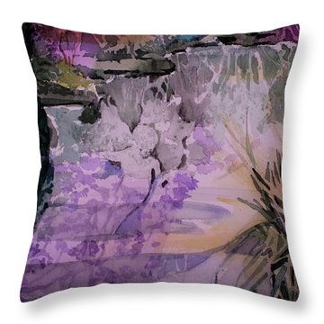 Throw Pillow featuring the painting Water Sprite by Mindy Newman