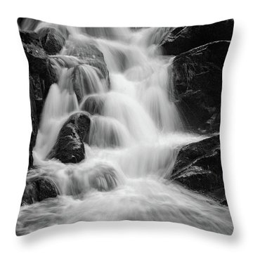 water stair close to the Heinrich Heine hiking way, Harz Throw Pillow