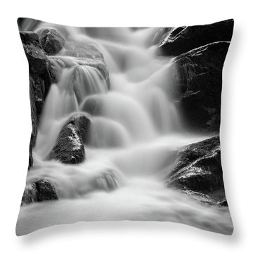 water stair in Ilsetal, Harz Throw Pillow