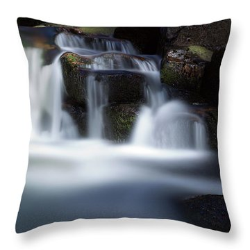 Water Stair - Long Exposure Version Throw Pillow