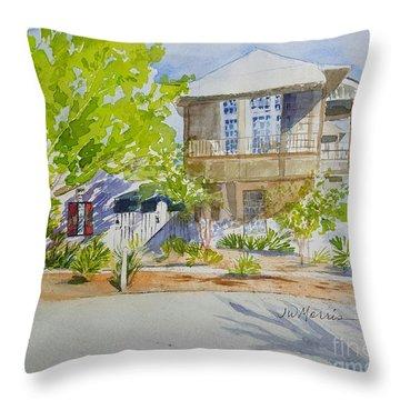 Water Street, Rosemary Beach Throw Pillow