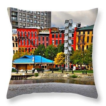 Water Street-toledo Ohio Throw Pillow