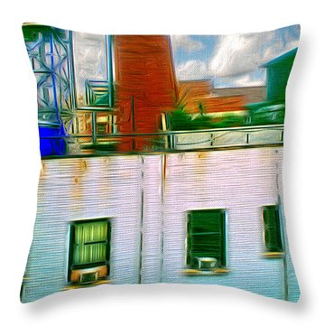 Water Tank Brooklyn Ny Ver 1 Throw Pillow
