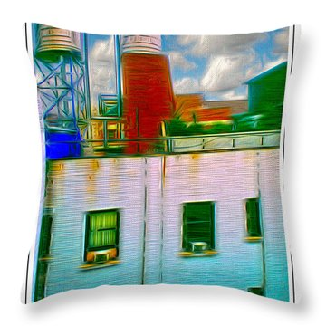 Water Tank Brooklyn Ny Ver 2 Throw Pillow