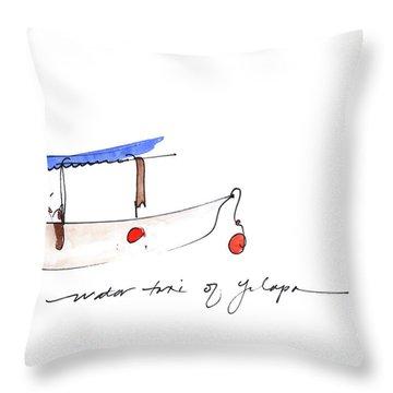Water Taxi Of Yelapa Throw Pillow