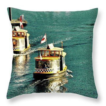 Water Taxis  Throw Pillow