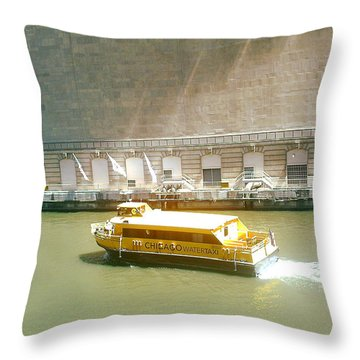 Water Texi Throw Pillow
