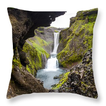 Water Through Lava Throw Pillow