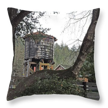 Water Tower @ Roaring Camp Throw Pillow