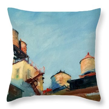 Water Towers At Sunrise No. 1 Throw Pillow