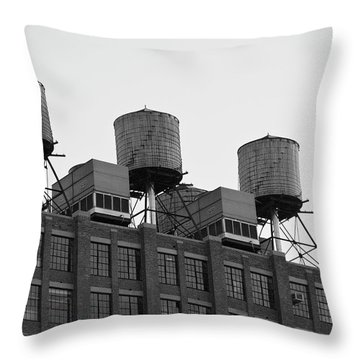 Water Towers Throw Pillow