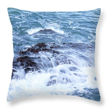Throw Pillow featuring the photograph Water Turmoil by Richard J Thompson