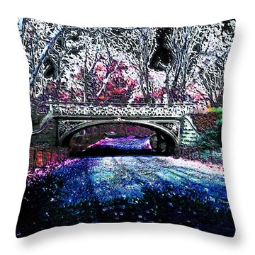 Throw Pillow featuring the photograph Water Under The Bridge by Iowan Stone-Flowers