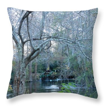 Throw Pillow featuring the photograph Water Wheel by Kay Gilley