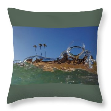 Throw Pillow featuring the photograph Water Works by Sean Foster