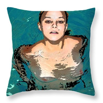 Waterbabies Throw Pillow by Tbone Oliver