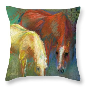 Throw Pillow featuring the painting Waterbreak by Frances Marino