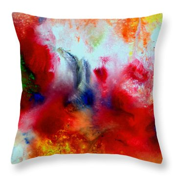 Watercolor Abstract Series G1015a Throw Pillow
