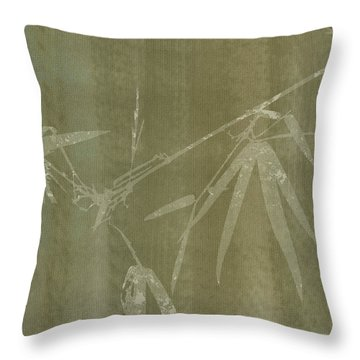 Watercolor Bamboo 01 Throw Pillow