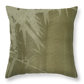 Watercolor Bamboo 02 Throw Pillow