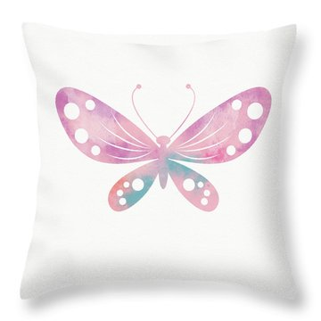 Watercolor Butterfly 1- Art By Linda Woods Throw Pillow