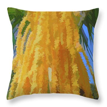 Throw Pillow featuring the photograph Watercolor Cascading Seed Pod by Aimee L Maher Photography and Art Visit ALMGallerydotcom