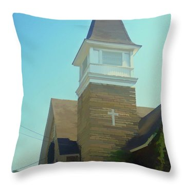Throw Pillow featuring the photograph Watercolor Cathedral Cafe by Aimee L Maher Photography and Art Visit ALMGallerydotcom