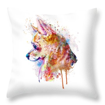 Watercolor Chihuahua  Throw Pillow