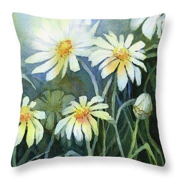 Daisies Flowers  Throw Pillow
