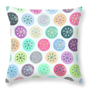 Watercolor Lovely Pattern Throw Pillow
