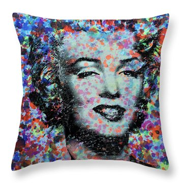 Watercolor Marilyn Throw Pillow