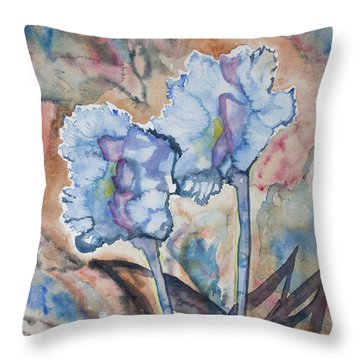 Watercolor - Orchid Impression Throw Pillow