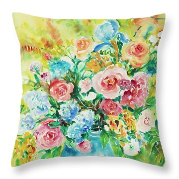 Watercolor Series 120 Throw Pillow