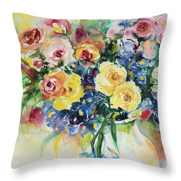 Watercolor Series 62 Throw Pillow