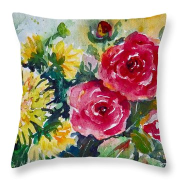 Watercolor Series No. 212 Throw Pillow