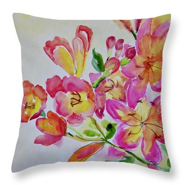 Watercolor Series No. 225 Throw Pillow