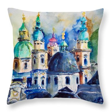 Watercolor Series No. 247 Throw Pillow