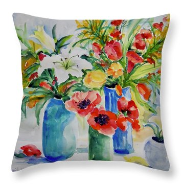 Watercolor Series No. 256 Throw Pillow