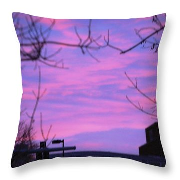 Watercolor Sky Throw Pillow