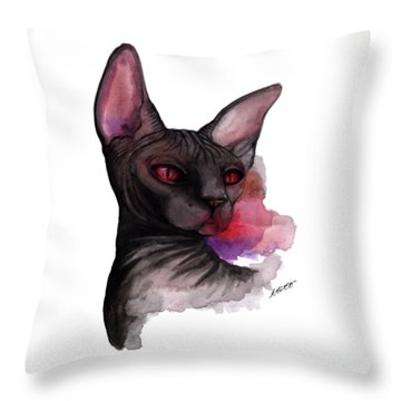 Watercolor Sphinx Throw Pillow