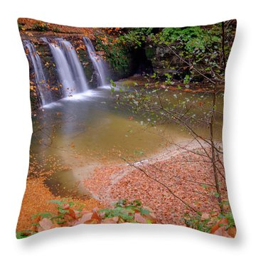Waterfall-1 Throw Pillow