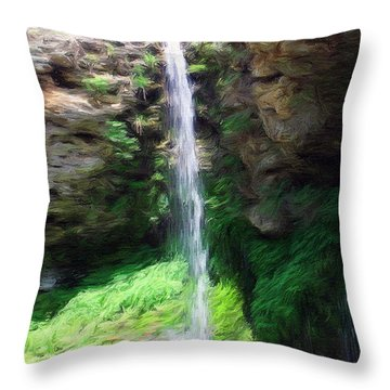 Waterfall 2 Throw Pillow by Jeff Kolker