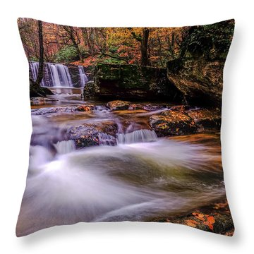 Waterfall-9 Throw Pillow