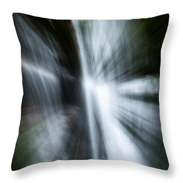 Waterfall Abstract Throw Pillow by Chris McKenna