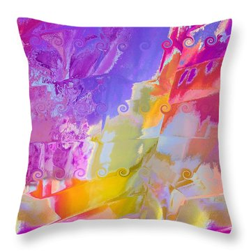 Waterfall Throw Pillow by Alika Kumar