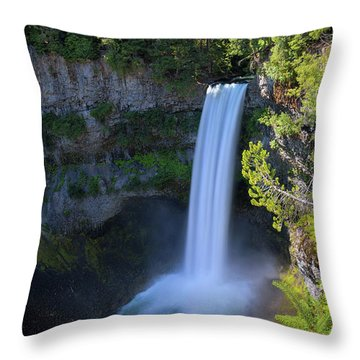 Waterfall At Brandywine Falls Provincial Park Throw Pillow by David Gn